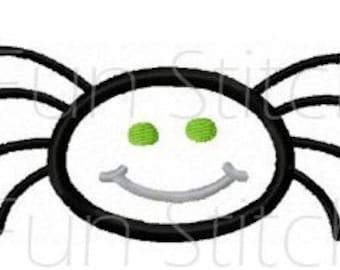 Halloween spider applique machine embroidery design