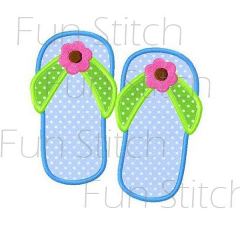 4f7b589125a1 Flip flop applique machine embroidery design