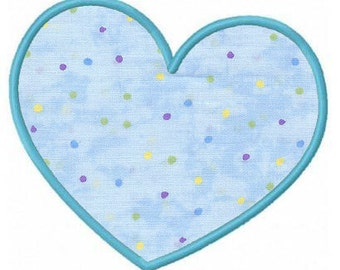 Valentine heart applique machine embroidery design EM11-10526