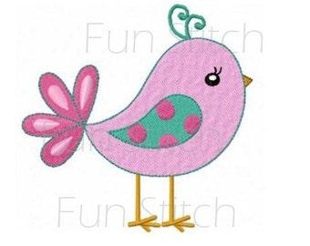 Sweet bird machine embroidery design instant download
