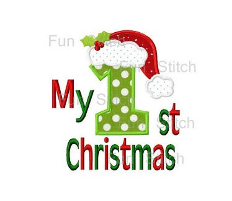 6d1db28e62b My 1st Christmas santa hat applique machine embroidery design
