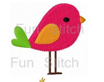 Mini bird machine embroidery design