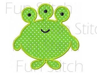 green monster applique machine embroidery design