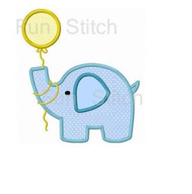 Verjaardag Olifant Ballon Applique Borduurwerk Machinebouw Etsy