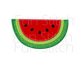 watermelon applique machine embroidery design