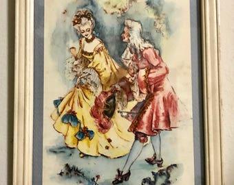 Baroque watercolor reproduction