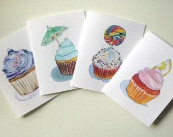 Card Set - Cupcake Art Note Cards (Ed. 3) , Set of 12