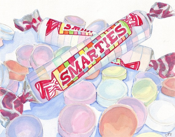 Smarties Candy Watercolor Art Print Watercolor Painting | Etsy
