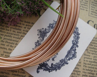 Thickness 8 gauge (3mm) - 16 ft - Artistic Aluminum Craft Wire - Copper