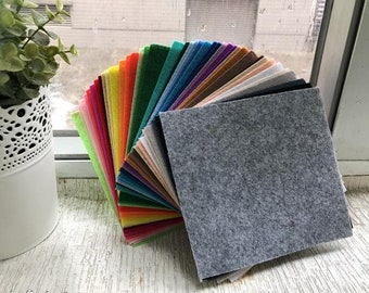 "Free Shipping TOP HIT ITEM - 42 pcs Synthetic Felt Fabric Sheet  - each piece 15 x 15 cm (225 cm square) - 6"" x 6"""