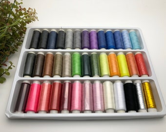 FREE SHIPPING - 39 spools Polyester Sewing Thread