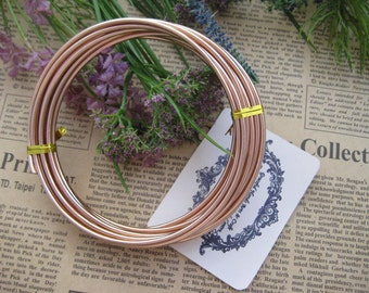 Thickness 10 gauge (2.5mm) - 16 feets - Artistic Aluminum Craft Wire - Copper Color