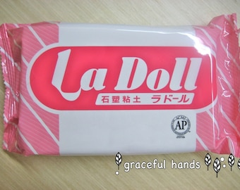 Free Shipping - 500g La Doll Satin Smooth Natural Stone Modeling Clay (Made in Japan)