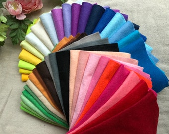 Free Shipping Super Value Pack - 40 pcs Soft Polyester Felt Fabric Sheet