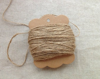 Natural Kraft Jute Burlap String - 100 meter (over 100 yards)