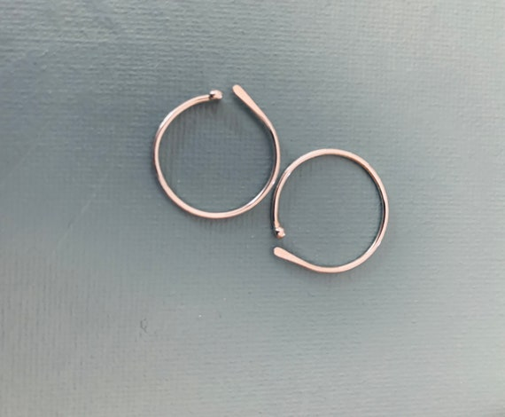 Sleep hoop in Fine Silver  lightweight earrings   Circle with fused ball end  simple minimalist