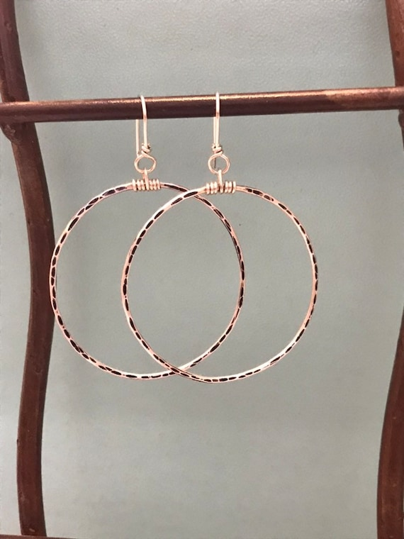 Big girl hoops  Sterling Silver Big Hoops- antiqued round style hammered texture, circle earring, minimalist jewelry, Simple boho dmalia
