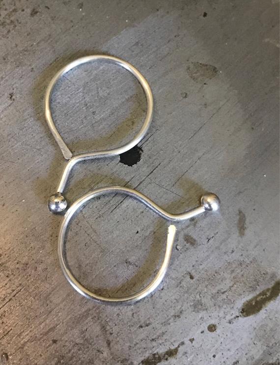 Silver hoop sleeper earring  sterling simple minimalist circle starter hoop small