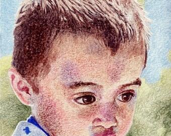 Crayon Portrait