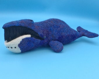 Needle felted Bowhead Whale
