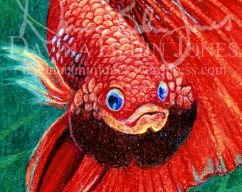 DIGITAL DOWNLOAD - Crayon Red Betta