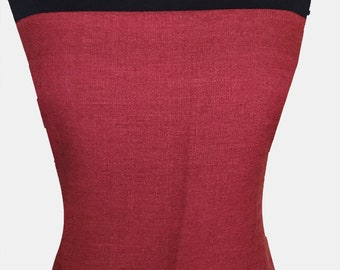 Brick Red Impanema Poly Fabric