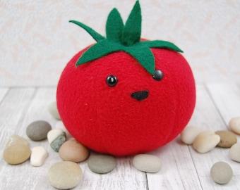 Tomato Fake Food Plush Vegetable Cute Polar Fleece Stuffed Toy  Made in Canada