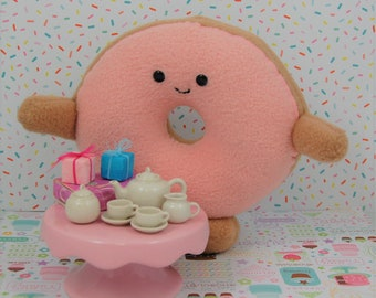 Doughnut Donut Pink Icing Gum Commercial Plush Fake Food Made In Canada Made to Order