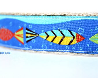 Tropical Fish Dog Collar