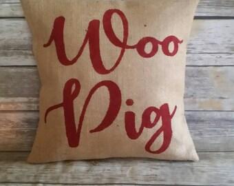 Woo Pig Pillow, Woo Pig Sooie, Arkansas, Arkansas Razorbacks, Arkansas Football, Woo Pig, Woo Pig Arkansas, Woo Pig Razorbacks, The South