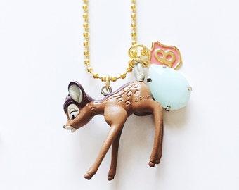 Disney Jewelry Bambi Inspired Charm Necklace , giddyupandgrow