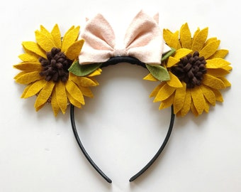 Fall Sunflower Mickey Mouse Ears Headband, giddyupandgrow