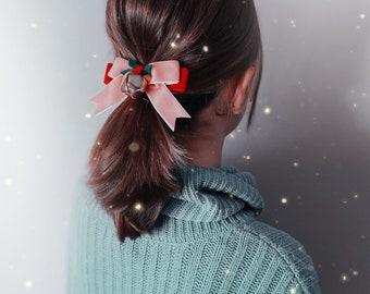 Christmas Velvet Holiday Hair Clip giddyupandgrow