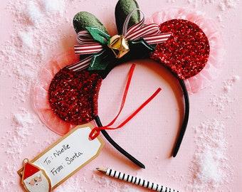 Christmas Mickey Ears Jingle Bells, giddyupandgrow