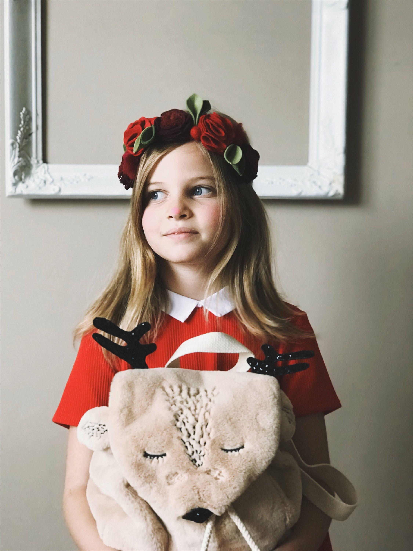 Christmas flower crown mistletoe felt flower headband izmirmasajfo