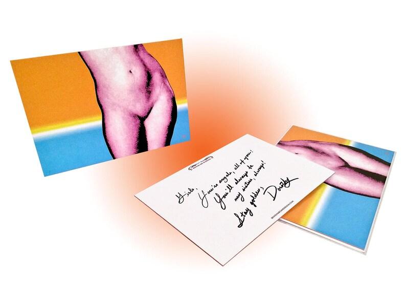 Cookie Note Card OrangeBlue