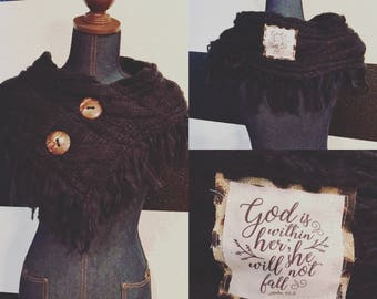 Knit Infinity Scripture Scarf