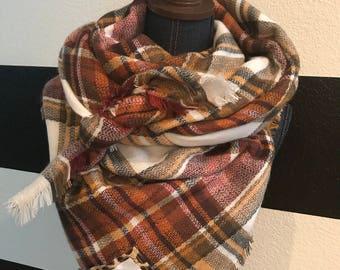 SALE - Scripture Scarf Blanket - Thanksgiving