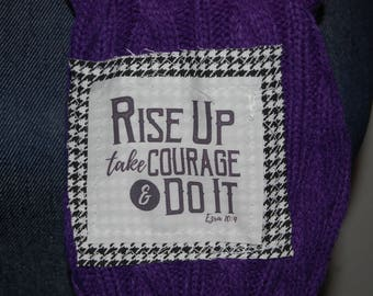 Scripture Scarf - Gameday - Purple and Gold