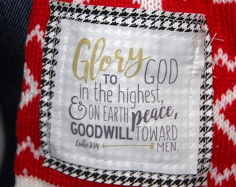Scripture Scarf - Red Christmas