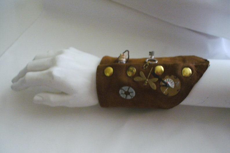 Etsy Shop Steampunk Wrist Cuff Handmade Leather Cuff Etsy