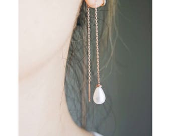 pearl earrings-sterling silver-FREE SHIPPING