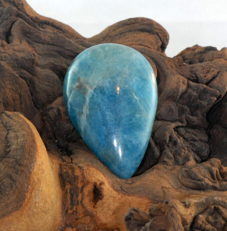Apatite Cabochon, taille poire Cabochon, Apatite non traité pierre naturelle 64,8 cts cc8948