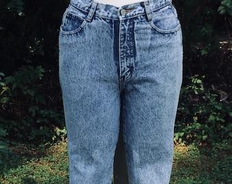 c4679fd86 Vintage Jordache Jeans Acid Wash Zipper Ankle with Bow Ladies W27X L27.5