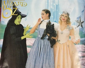 Simplicity Wizard of Oz Dorothy, Wicked Witch and Glinda Costume Set Ladies Size 6-8-10 Complete