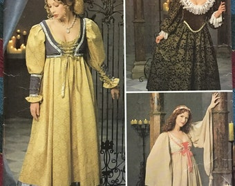 Simplicity Renaissance Costumes for Ladies Medieval Gown Size 16-19-20 Complete