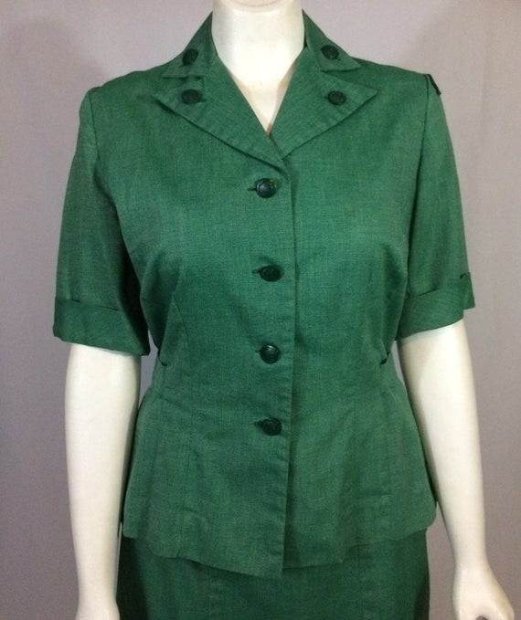 Authentic Vintage Girl Scout Leader Two Piece Dres