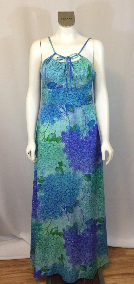 Hawaiian Dress 1970s Ladies Hawaii Dress Maxi Vint