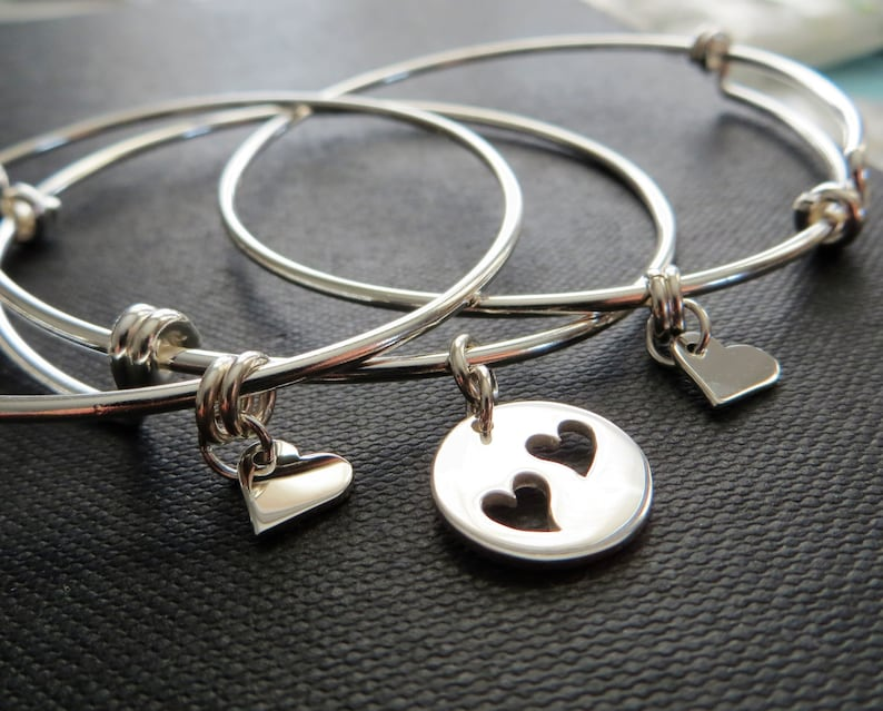 mother daughter bracelet bangle mother and two daughters image 1