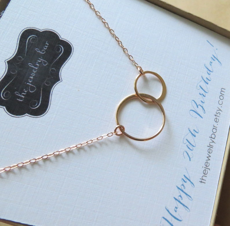 20th Birthday Gifts For Women Two Interlocking Circles